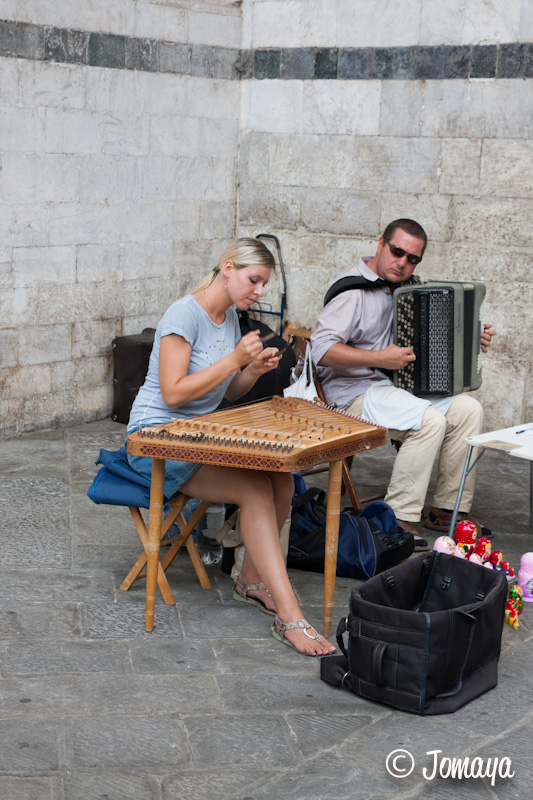 Sienne - musiciens, piazza del Duomo