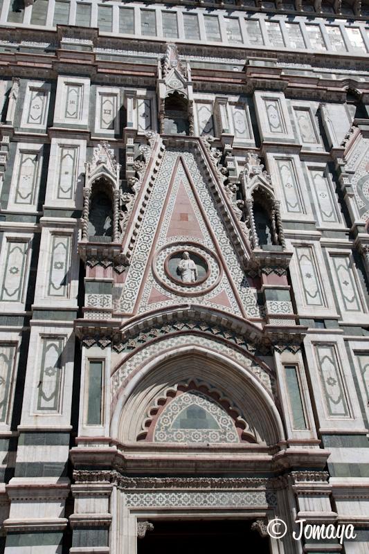 Florence - Le duomo - détail de la façade