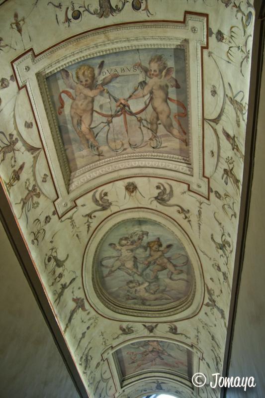 Florence - Palazzo vecchio - plafond peint