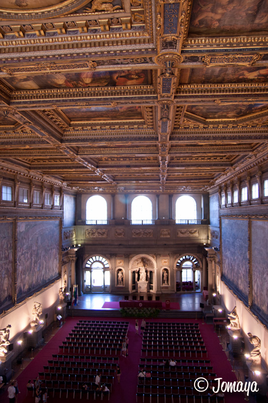Florence - Palazzo vecchio - Salle des cinq cents
