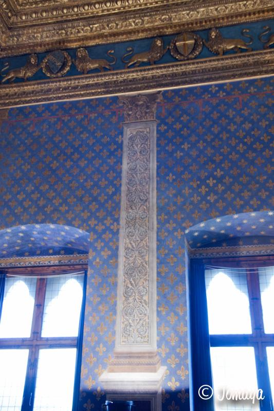 Florence - Intérieur du Palazzo vecchio - la salle bleue