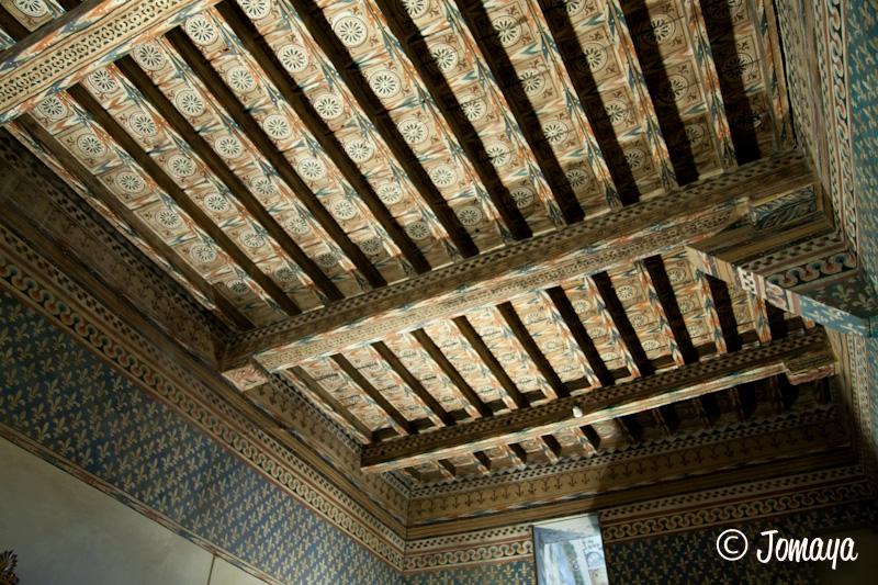 Florence - Intérieur du Palazzo vecchio - plafond en bois peint