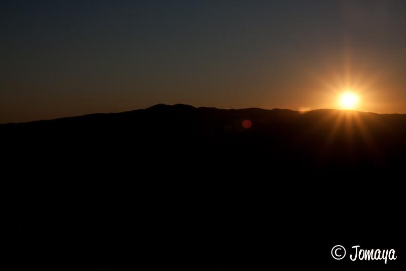 Coucher de soleil sur Volterra