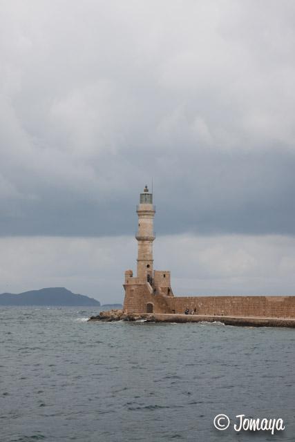La Canée - le phare du port vénitien
